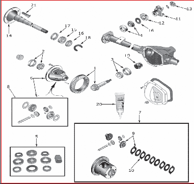 Rockwell Differential Parts Diagram together with Rockwell Differential Parts Diagram additionally Eaton Power Divider Axle Diagram further Dana Differential as well Mack Differential Diagram. on rebuilt rockwell differential